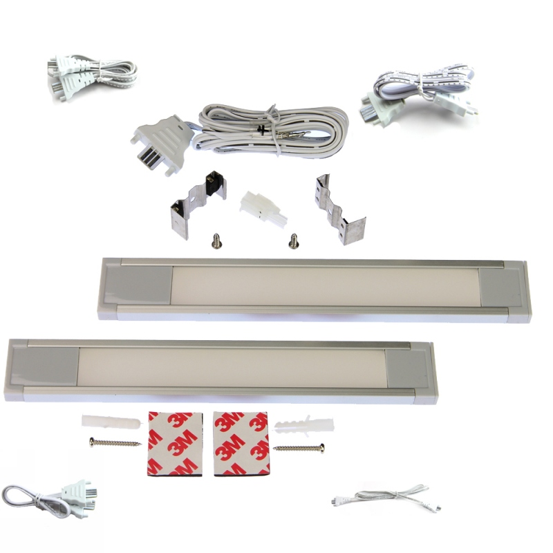 "LED Linear Lighting Kit for 24"" Cabinet - Eurolinx, 8W, Cool Light, 5000K :: Image 10"