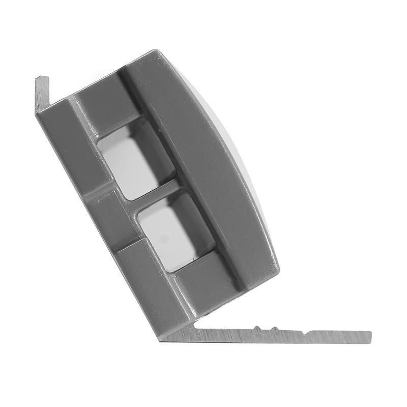 Tresco Infinex Angled End Cap Starter/Link, Gray, L-XANGECP-GY-1 :: Image 10