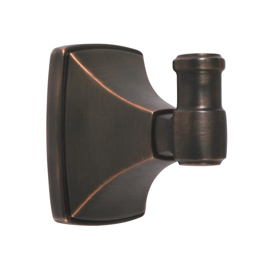 "Clarendon Single Robe Hook 2-13/16"" Long Oil Rubbed Bronze Amerock BH26502ORB"