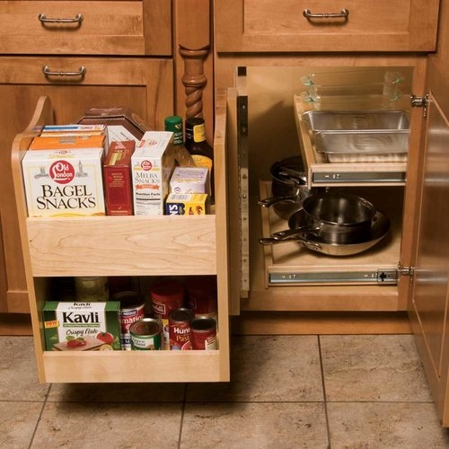 Omega National P0650MNL1 Kitchen Mate Blind Corner Caddy with Swing-Out Motion, Maple Wood :: Image 10