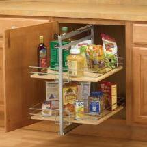 KV P2500CM-FN, Pantry Pull-Out Frame, Frosted Nickel, Baskets Center Mount, 3-13/16 W x 26-3/4 to 28-3/4 H x 22-1/4 D, Max Baskets: 2 :: Image 20