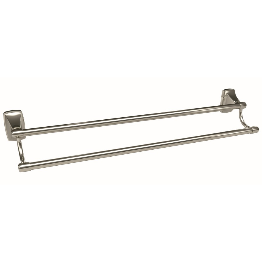 """Clarendon Double Towel Bar 24"""" Center to Center Polished Nickel Amerock BH26505PN"""