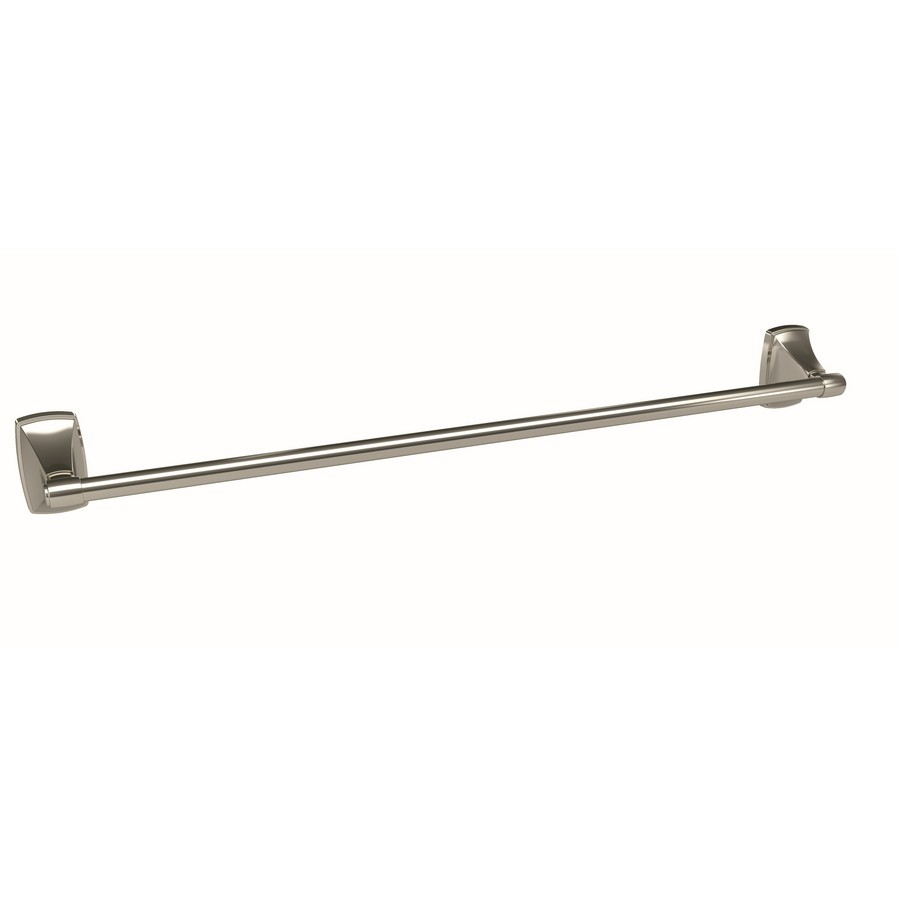"Clarendon Single Towel Bar 24"" Center to Center Polished Nickel Amerock BH26504PN"