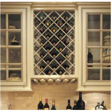 Omega National L3360CUF9, 17 x 36 Wood Wine Rack Lattice Panel - Premium, Cherry, (1) Pair (front/back) :: Image 30