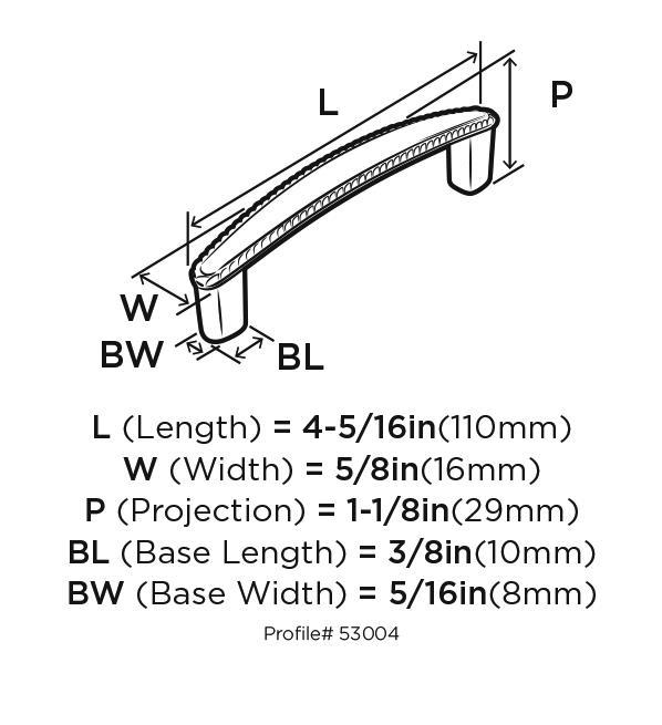 Amerock BP53004-FB Design Handle, 3-3/4 (96mm) Centers, Flat Black, Allison Series :: Image 10