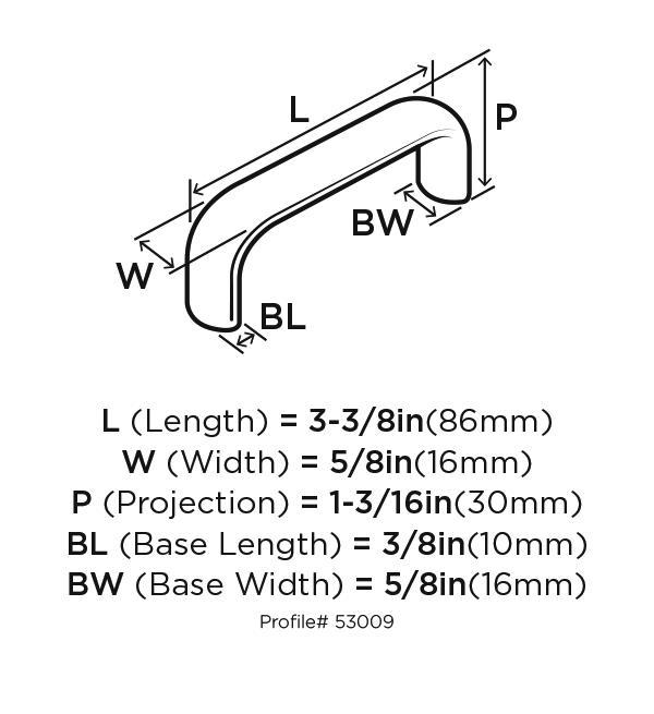 Amerock BP53009-FB Plain Handles & Pulls, Centers 3in, Flat Black, Allison Series :: Image 10