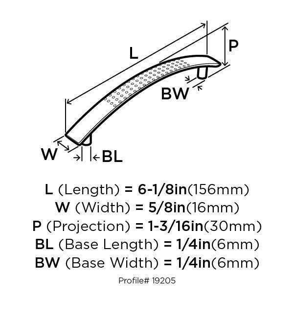 Amerock BP19205-WN Modern Handle, Centers 5in (128mm), Weathered Nickel, Essential :: Image 10