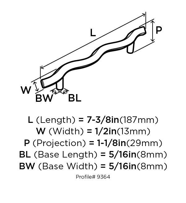 Amerock BP9364-G10 Modern Handle, Centers 5in (128mm), Satin Nickel, Essential :: Image 10