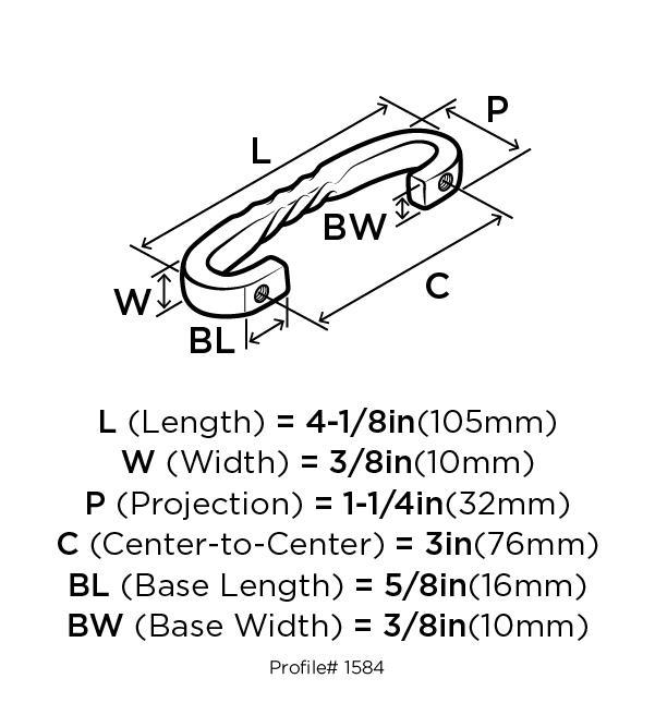 Amerock BP1584-ART Design Handle, Centers 3in, Antique Rust, Inspirations :: Image 20