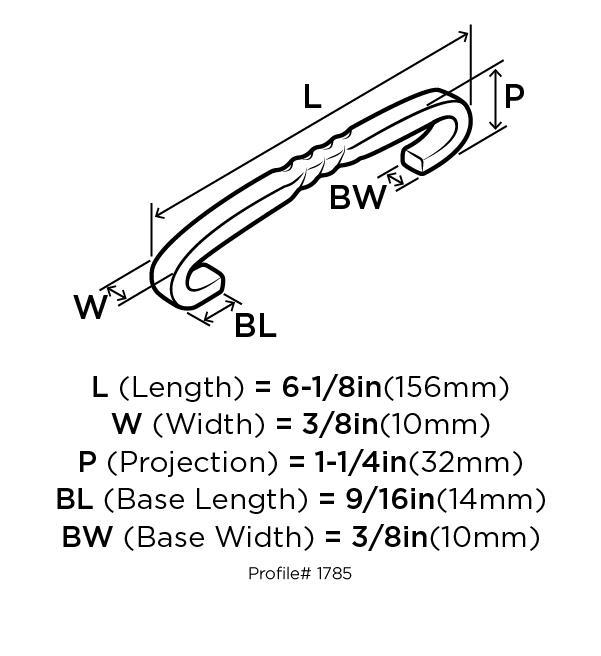 Amerock BP1785-WID Design Handle, Centers 128mm, Wrought Iron Dark, Inspirations :: Image 10