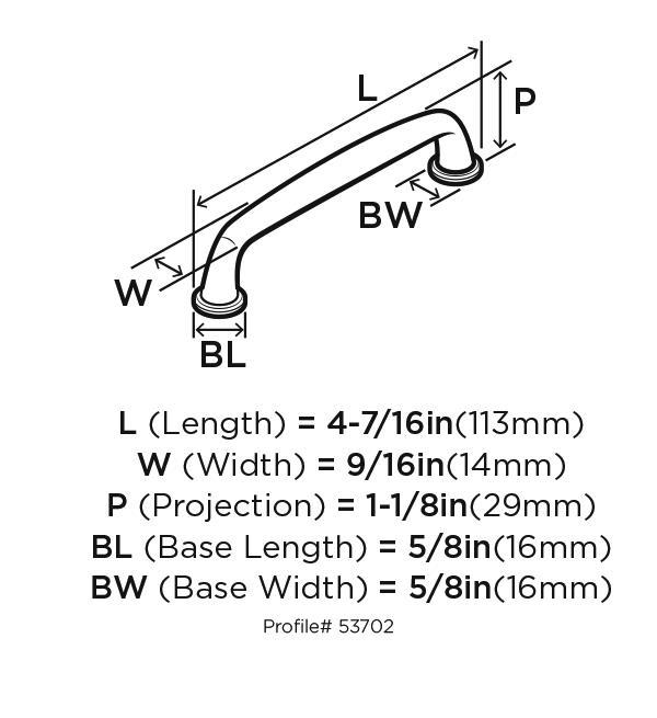 Amerock BP53702-AS, Kane 96mm Center Pull Crystal Black Bronze, Kane Collection :: Image 10