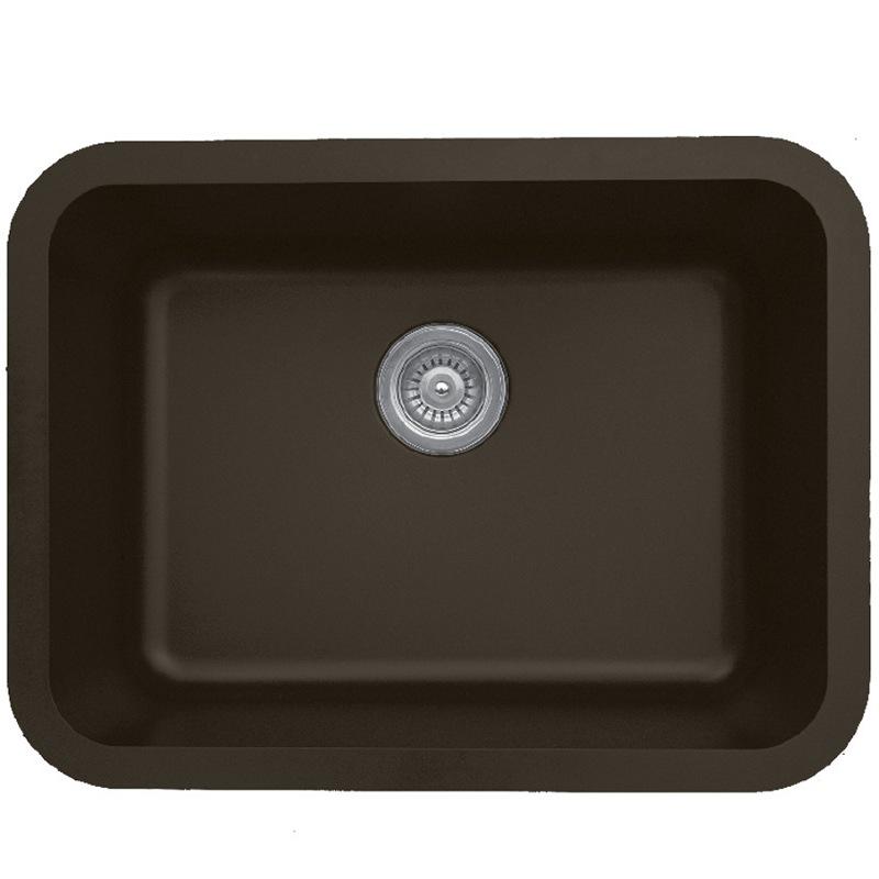 """Karran Q320BROWN, 24-1/4"""" x 18-1/4"""" Quartz Undermount Kitchen Sink Single Bowl, Brown :: Image 10"""