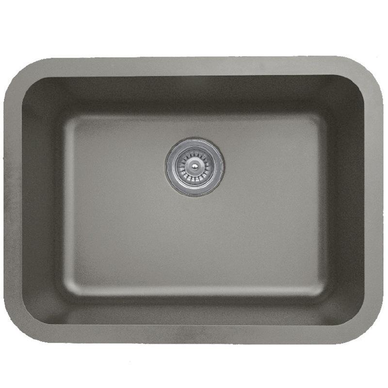"""Karran Q320CONCRETE, 24-1/4"""" x 18-1/4"""" Quartz Undermount Kitchen Sink Single Bowl, Concrete :: Image 10"""