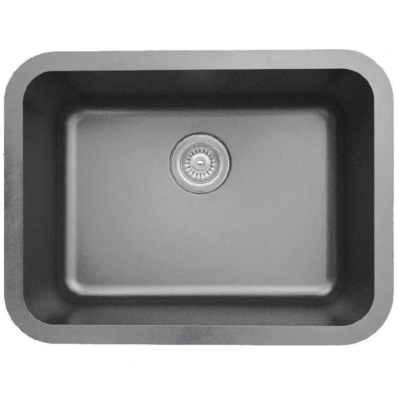 "Karran Q320GREY, 24-1/4"" x 18-1/4"" Quartz Undermount Kitchen Sink Single Bowl, Grey :: Image 10"