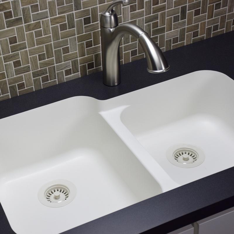 """Karran Q360WHITE, 32-1/2"""" x 21"""" Quartz Undermount Kitchen Sink Extra Large Single Bowl, White :: Image 30"""