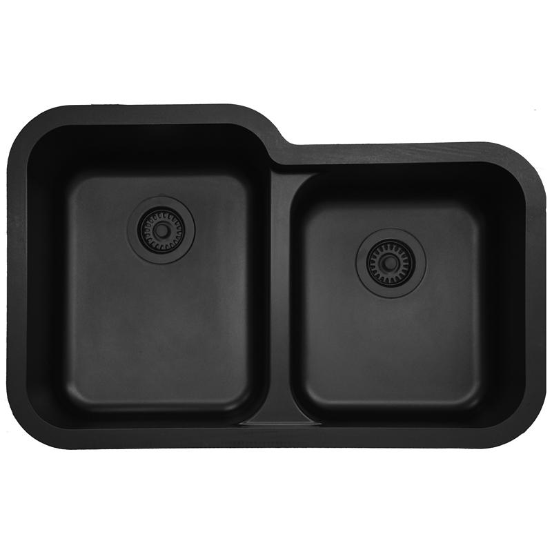 "Karran Q360BLACK, 32-1/2"" x 21"" Quartz Undermount Kitchen Sink Extra Large Single Bowl, Black :: Image 10"