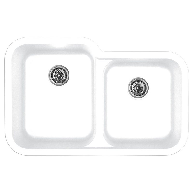 """Karran Q360WHITE, 32-1/2"""" x 21"""" Quartz Undermount Kitchen Sink Extra Large Single Bowl, White :: Image 10"""