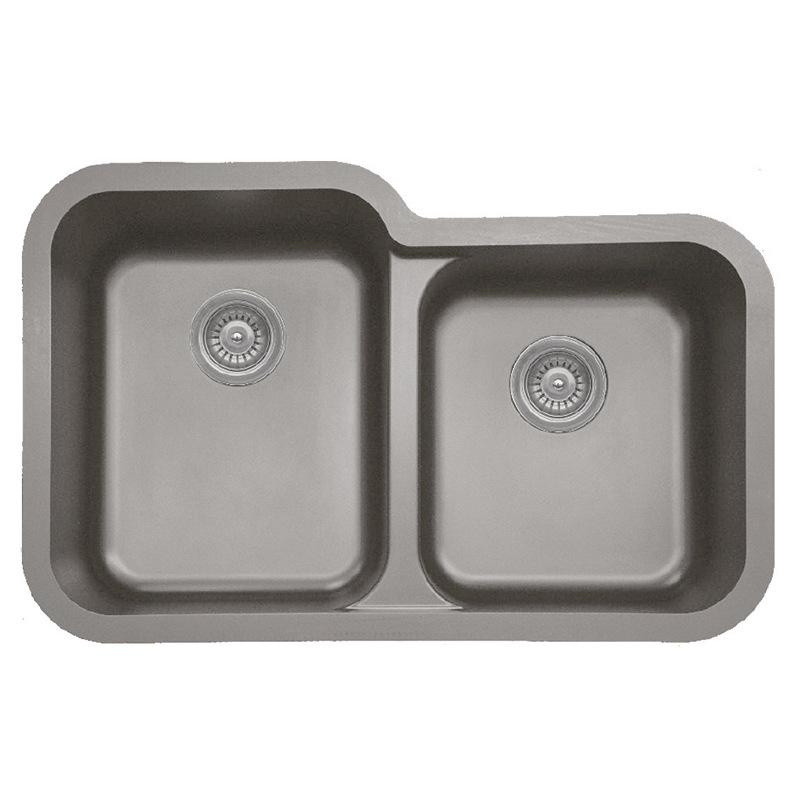 "Karran 360RCONCRETE, 32-1/2"" x 21"" Quartz Undermount Kitchen Sink Extra Large Single Bowl, Concrete :: Image 10"