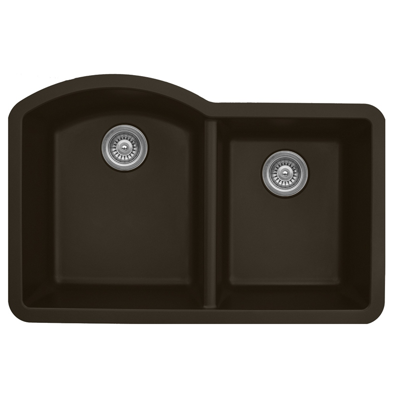 "Karran QU610-BROWN, 32"" x 21"" Quartz Sink Undermount Style Large/Small Double Bowls, Brown :: Image 10"