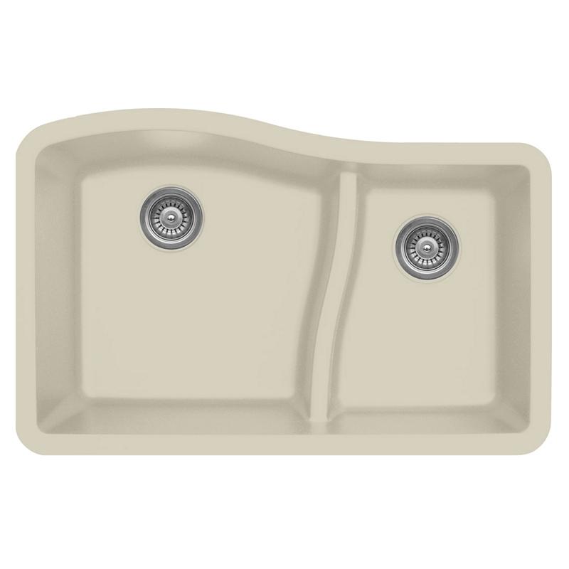 """Karran QU630-BI, 32"""" x 21"""" Quartz Sink Undermount Style Large/Small Double Bowls, Bisque :: Image 10"""