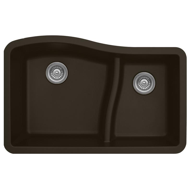 "Karran QU630-BROWN, 32"" x 21"" Quartz Sink Undermount Style Large/Small Double Bowls, Brown :: Image 10"