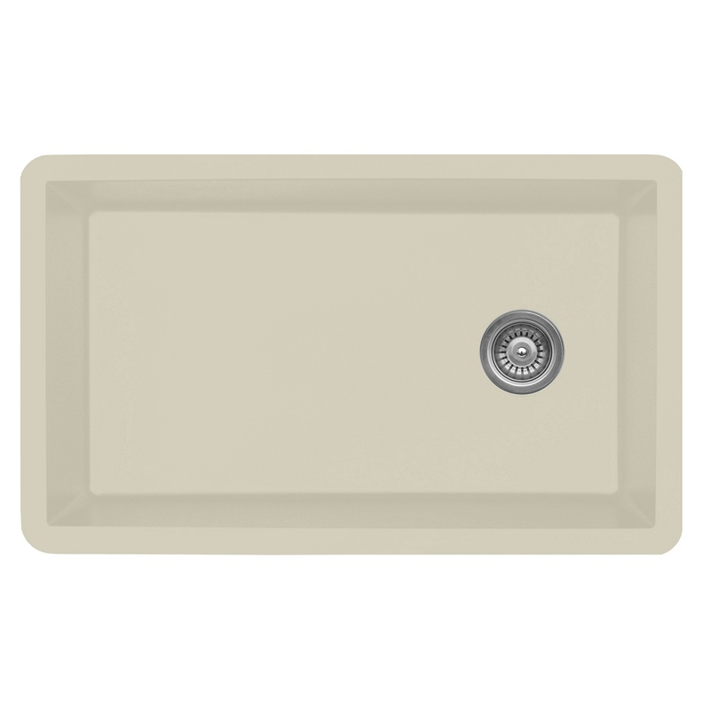 """Karran QU670-BI, 31-5/8"""" x 19-1/8"""" Quartz Sink Undermount Style Large Single Bowl, Bisque :: Image 10"""