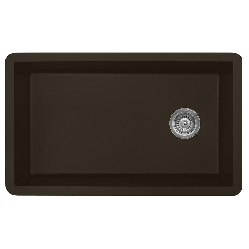 "Karran QU670-BROWN, 31-5/8"" x 19-1/8"" Quartz Sink Undermount Style Large Single Bowl, Brown :: Image 10"