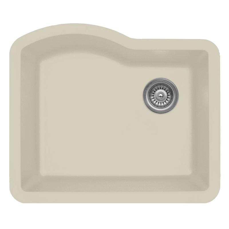 """Karran QU671-BI, 24"""" x 21"""" Quartz Sink Undermount Style Large Single Bowl, Bisque :: Image 10"""