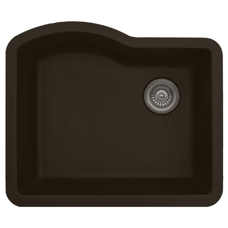 "Karran QU671-BROWN, 24"" x 21"" Quartz Sink Undermount Style Large Single Bowl, Brown :: Image 10"