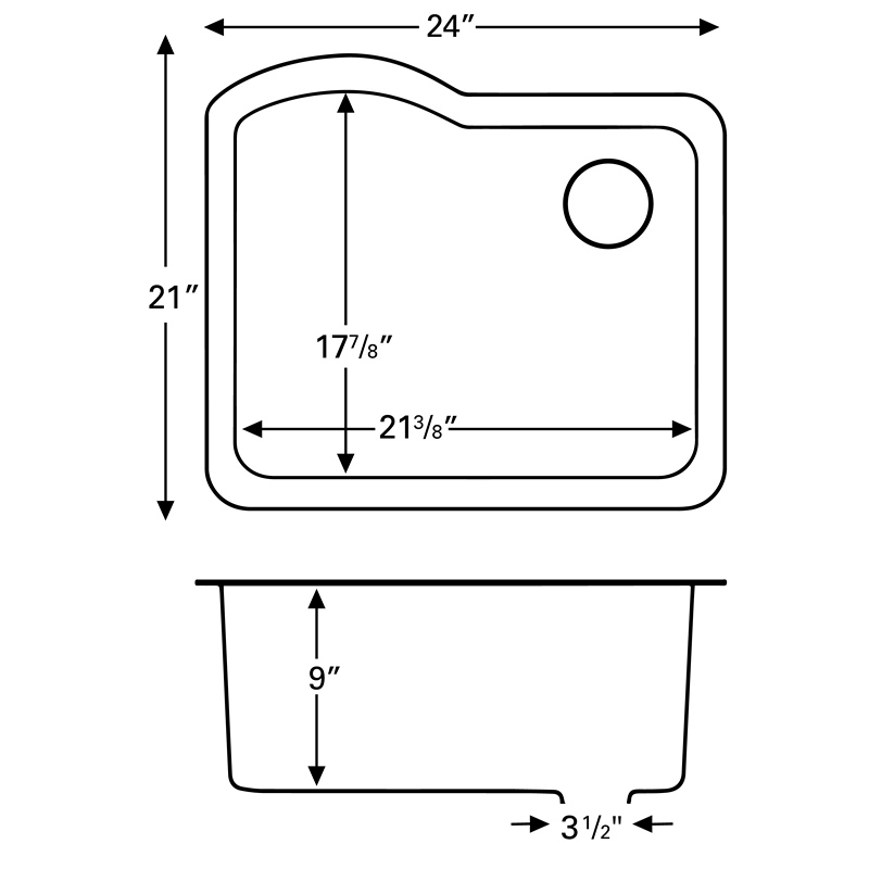 "Karran QU671-BROWN, 24"" x 21"" Quartz Sink Undermount Style Large Single Bowl, Brown :: Image 20"