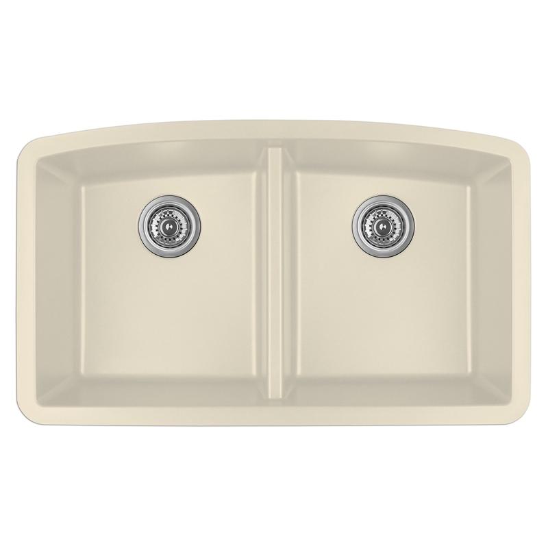 """Karran QU-710 BISQUE, 32-1/2"""" x 19-1/2"""" Quartz Undermount Kitchen Sink Double Bowl, Bisque :: Image 10"""