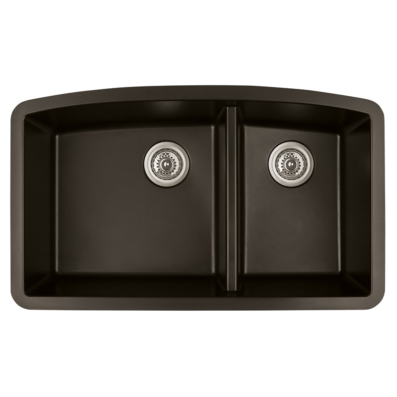 "Karran QU-711 BROWN, 32-1/2"" x 19-1/2"" Quartz Undermount Kitchen Sink Double Bowl, Brown :: Image 10"