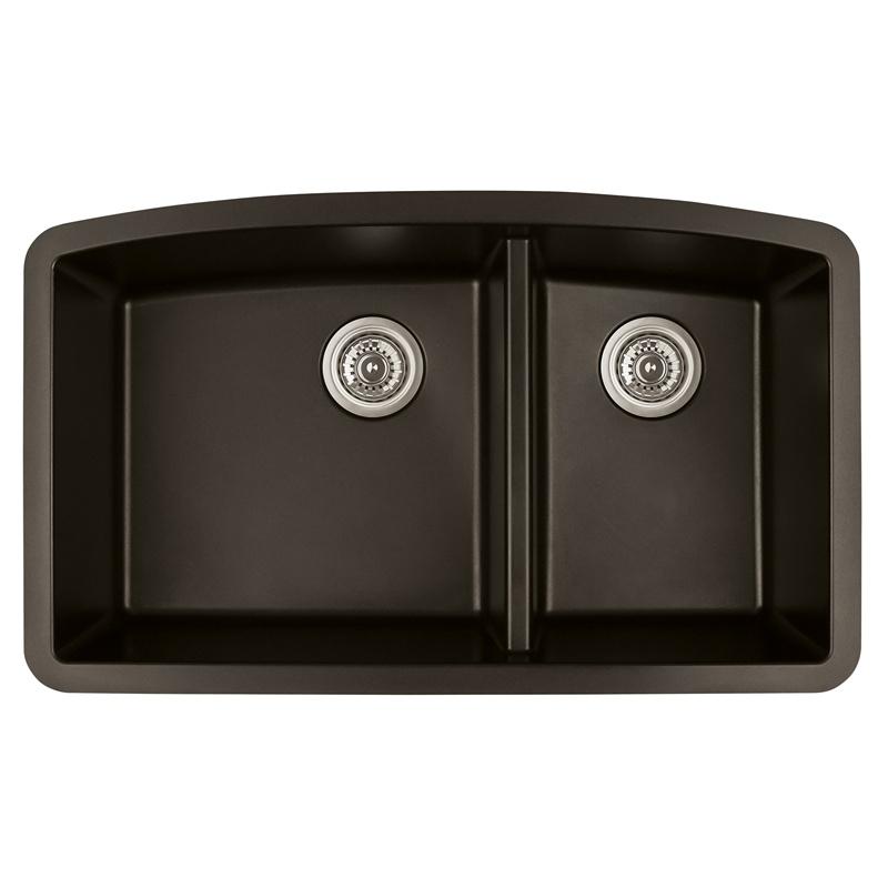 "Karran QT-711 BROWN, 33"" x 22"" Quartz Top Mount Kitchen Sink Double Bowl, Brown :: Image 10"