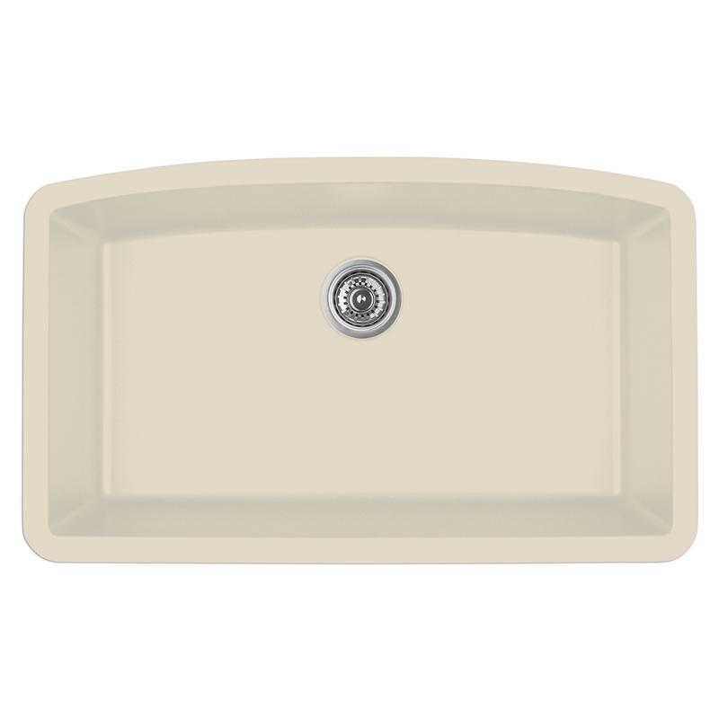 """Karran QU-712 BISQUE, 32-1/2"""" x 19-1/2"""" Quartz Undermount Kitchen Sink Single Bowl, Bisque :: Image 10"""