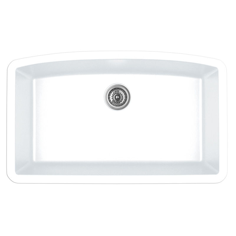 "Karran QU-712 WHITE, 32-1/2"" x 19-1/2"" Quartz Undermount Kitchen Sink Double Bowl, White :: Image 10"