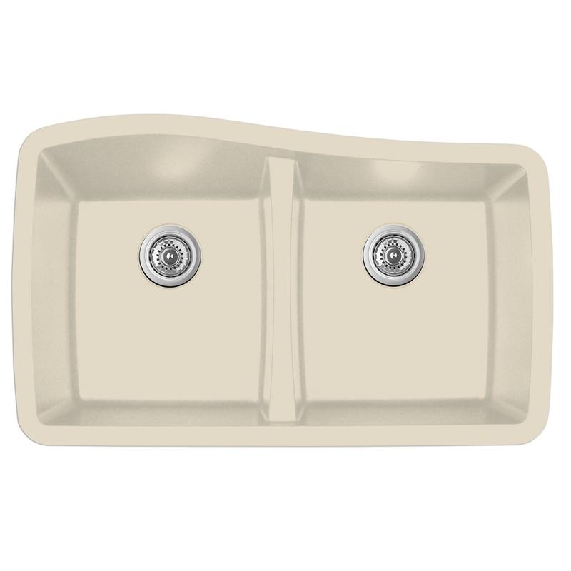 """Karran QU-720 BISQUE, 33-1/2"""" x 20-1/2"""" Quartz Undermount Kitchen Sink Double Bowl, Bisque :: Image 10"""