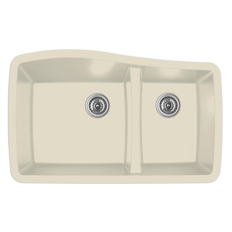 """Karran QU-721 BISQUE, 33-1/2"""" x 20-5/8"""" Quartz Undermount Kitchen Sink Double Bowl, Bisque :: Image 10"""