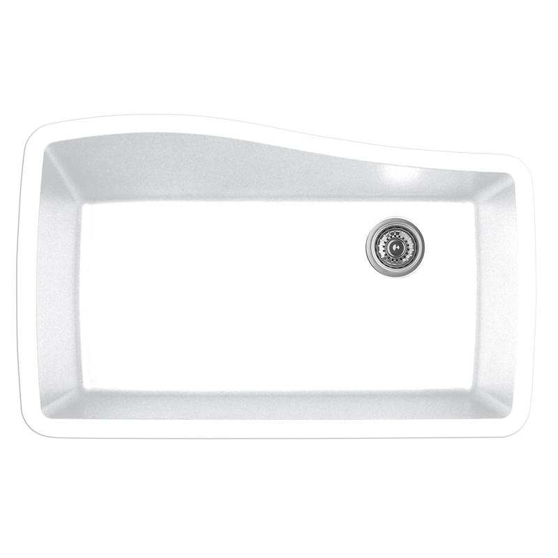 """Karran QU-722 WHITE, 33-1/2"""" x 21"""" Quartz Undermount Kitchen Sink Double Bowl, White :: Image 10"""
