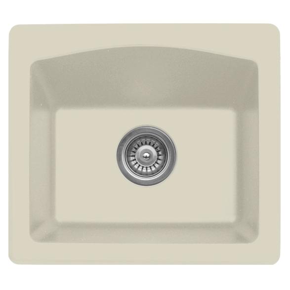 "Karran QX680-BI, 18"" x 16"" Quartz Sink Dual Mount Style Single Bar Bowl, Bisque :: Image 10"