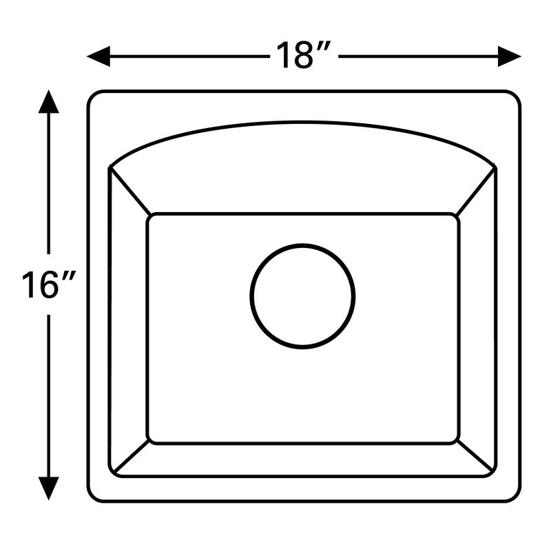 "Karran QX680-CONCRETE, 18"" x 16"" Quartz Sink Dual Mount Style Single Bar Bowl, Concrete :: Image 20"