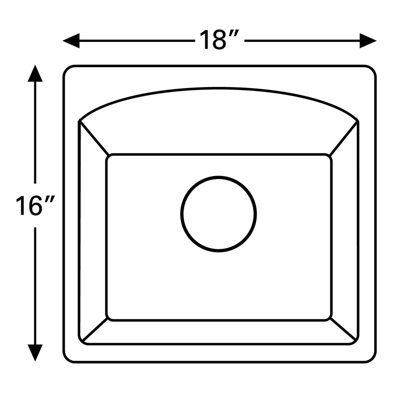 "Karran QX680-BLACK, 18"" x 16"" Quartz Sink Dual Mount Style Single Bar Bowl, Black :: Image 20"