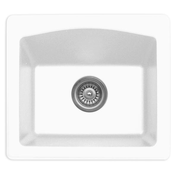 "Karran QX680-WH, 18"" x 16"" Quartz Sink Dual Mount Style Single Bar Bowl, White :: Image 10"