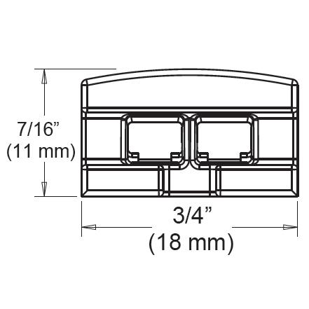 Tresco Infinex Angled End Cap Set, Dark Brown, L-XANGECP-B1-1 :: Image 10