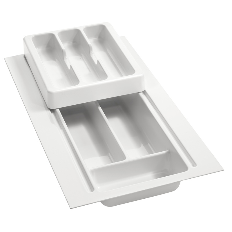 """8-3/4"""" to 11-3/4"""" 2-Tiered Cutlery Drawer Insert, Plastic, White, Rev-A-Shelf RT 10-4H :: Image 10"""
