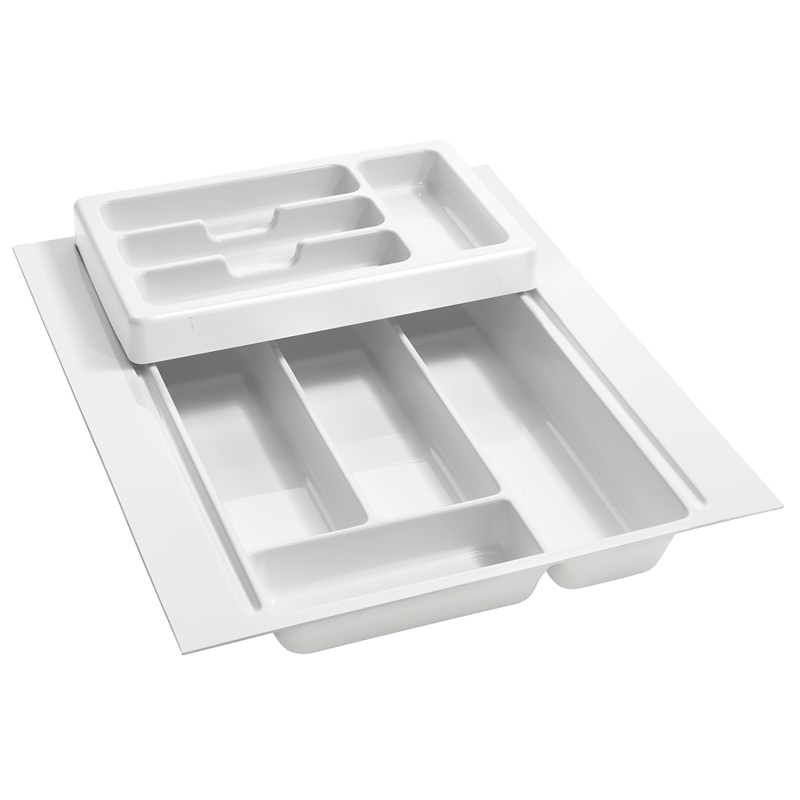 """17-3/4"""" 2-Tiered Cutlery Drawer Insert, Plastic, White, Rev-A-Shelf RT 14-4H :: Image 10"""