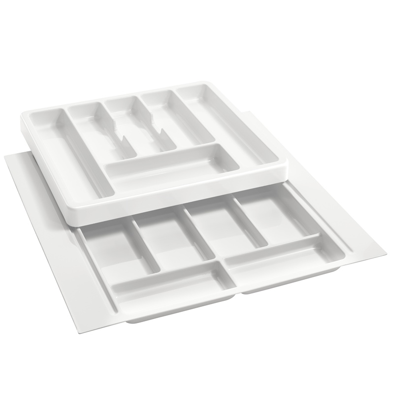 "21-3/4"" 2-Tiered Cutlery Drawer Insert, Plastic, White, Rev-A-Shelf RT 18-3F :: Image 10"