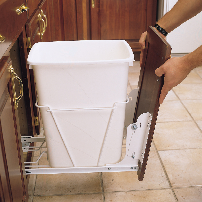 Rev-A-Shelf RV DM KIT, White Heavy Duty Door Mount Kit for Trash Containers, 5CW, HURV, HPRV Series :: Image 10