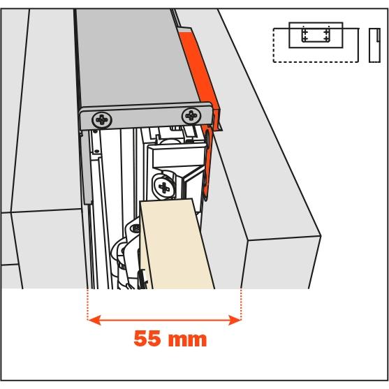Salice Pocket Door Lateral Kit 55mm for Cabinet Depth 650-9000mm, YE55KIT0006 :: Image 10