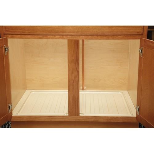 Rev-A-Shelf SBVDT-2730-S-1 - Vanity 28-1/2 Polymer Vanity Sink Base Drip Tray, Silver :: Image 10