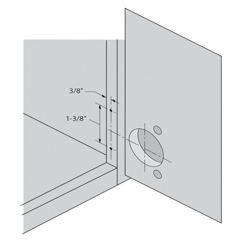 Blum 130.1140.02 110 Degree Compact 33 Side Mount Face Frame Plate, 1-3/8 Overlay :: Image 30